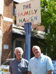Nick and Roger at The Family Haven